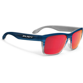 Rudy Project Spinhawk Glasses Blue Streaked Matte - Polar 3FX HDR Multilaser Red